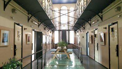 Pasillo de la cárcel de Wolvenplein, en Utrecht, reconvertida en espacio de co-working. Foto: Belén C.Díaz