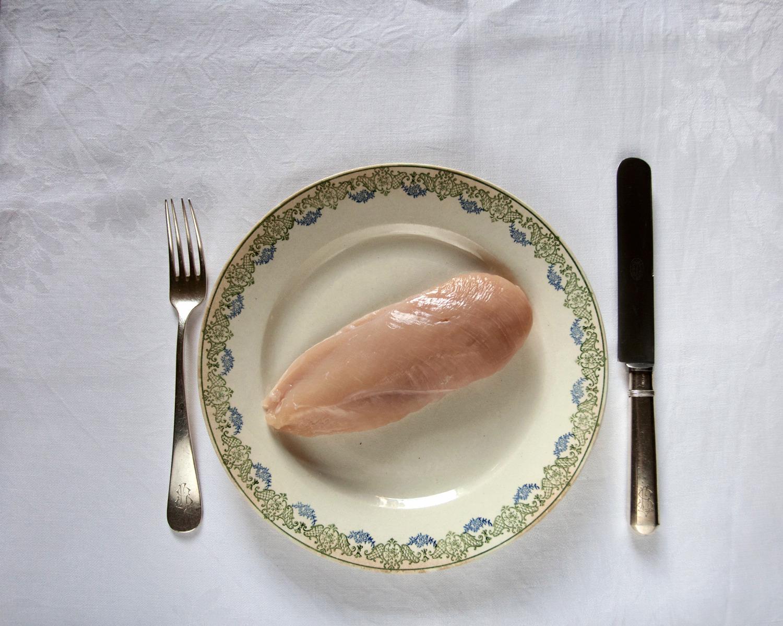 """Pechuga de la nueva variedad denominada """"pollo del mañana"""", específica de Holanda © Fernández Solla Fotografie"""