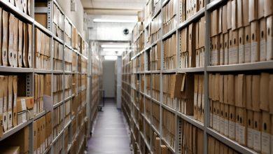 Depósito del Archivo Nacional que contiene toda la documentación del Registro de Bienes y Obras de Arte creado tras la Segunda guerra mundial en Holanda © Fernández Solla Fotografie