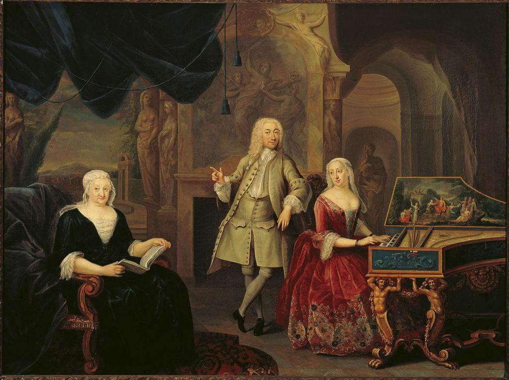 A la derecha, Sara Rothé y Jacob Ploos van Amstel, por Juriaan Buttner.